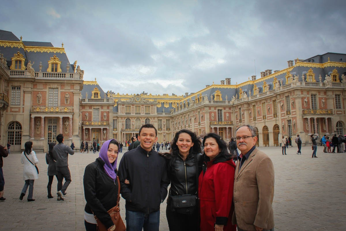 Arango family at Versailles